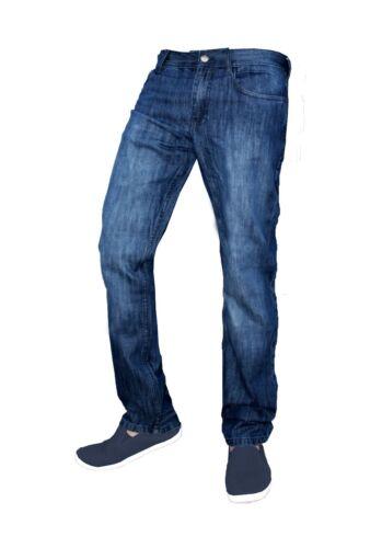 Mens Slim Fit Jeans Straight Leg Basic Denim Trouser Pants Regular Short Long