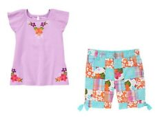 NWT Gymboree 5 6 7 8 DESERT DREAMS Girls 2pc Sun Top Watercolor /& Bermuda Shorts