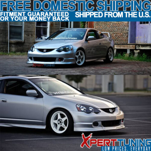 Fits 02 03 04 Acura RSX Base Coupe PU Front Rear Bumper Lip Spoiler