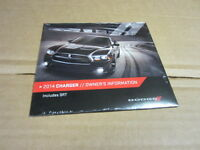 2014 Dodge Charger Owners Manual Dvd (oem) - J2477