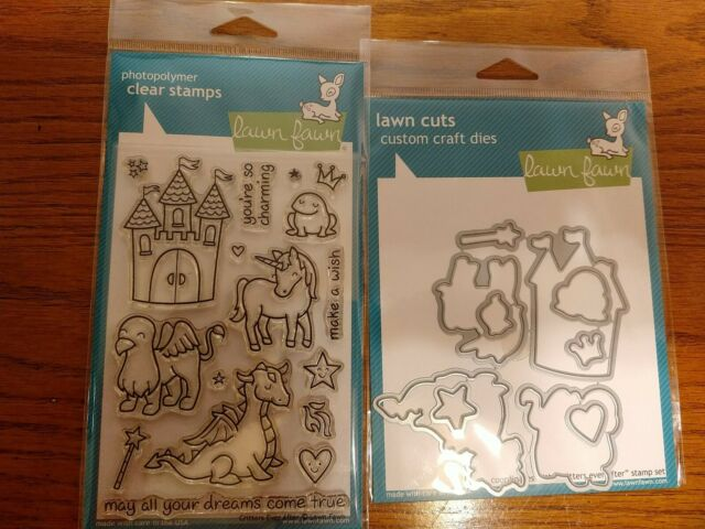Lawn Fawn clear stamp critters ever after