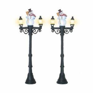 Set of 2 56.53189 Department 56 Village Accessories Snowman Street Light
