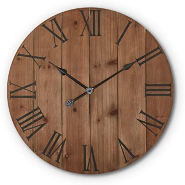 Wooden Wall Clock Rustic Wood Art