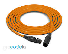 Canare Quad Cable L-4E6S   Neutrik Gold XLR-F XLR-M   Orange 10 Feet   10 Ft 10'