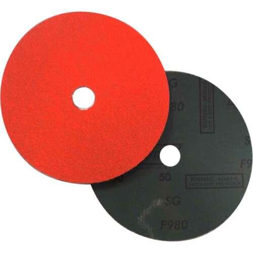 Blaze Coated Fiber Discs 50 Grit 25 pack Norton 69957398012 7x7//8 in