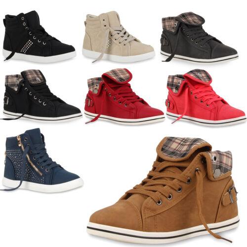 Damen Sneakers Strass Sportschuhe Sneaker Boots 71019 Gr 36-41 Top