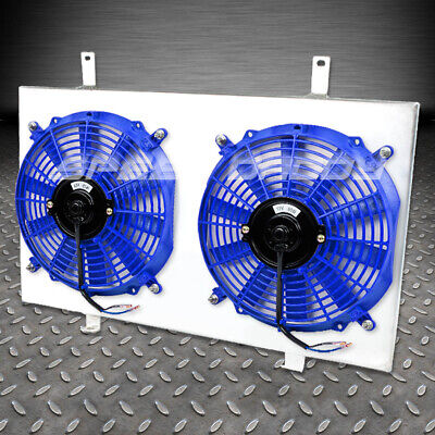 ALUMINUM 10-BLADE RADIATOR FAN SHROUD 96-01 MIT LANCER EVO//EVOLUTION 4//5//6 BLUE