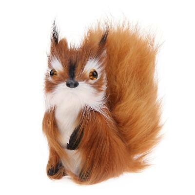 Cute Simulation Squirrel Plush Stuffed Doll Toy Kid Children Birthday Gift #UK