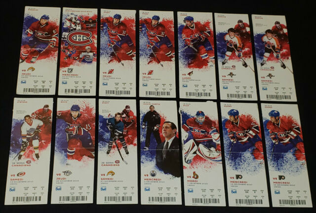 2010-11 MONTREAL CANADIENS - NHL - PLAYERS PHOTO - COMPLETE UNUSED TICKETS (14)