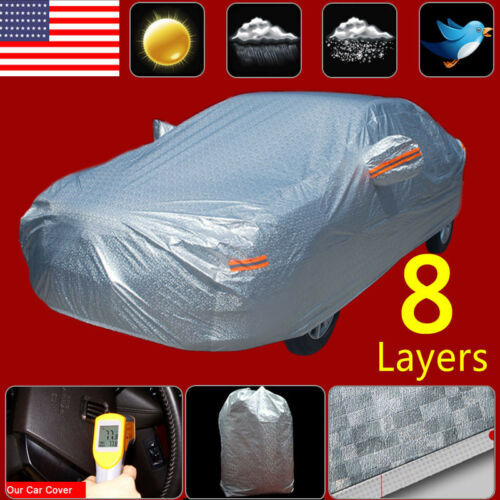 Multi Layers Full Size Car Cover Waterproof Sun UV  Dust Rain Resist Protection
