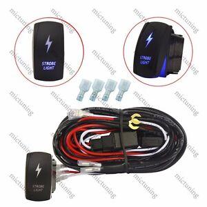 wiring harness relay strobe led light laser rocker switch. Black Bedroom Furniture Sets. Home Design Ideas