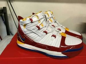 promo code 04ab9 61993 Details about NIKE LEBRON III 3 SUPERBRON RED RETRO SZ 10 USED KING JAMES  SUPERMAN