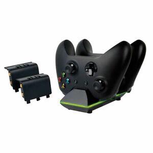 Distingué Xbox One Dual Control Station De Charge Avec 2 X Batterie De Rechange Pack-afficher Le Titre D'origine