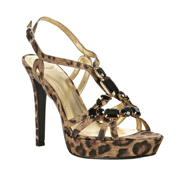 Nuova BCBG Angelina Leopard Platform Heels  donna US 9.5M  BRAND NEW In Box  servizio onesto