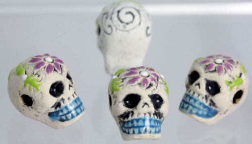Sugar Skull Bone Mixed Shaped Beads Peruvian Ceramic Beads
