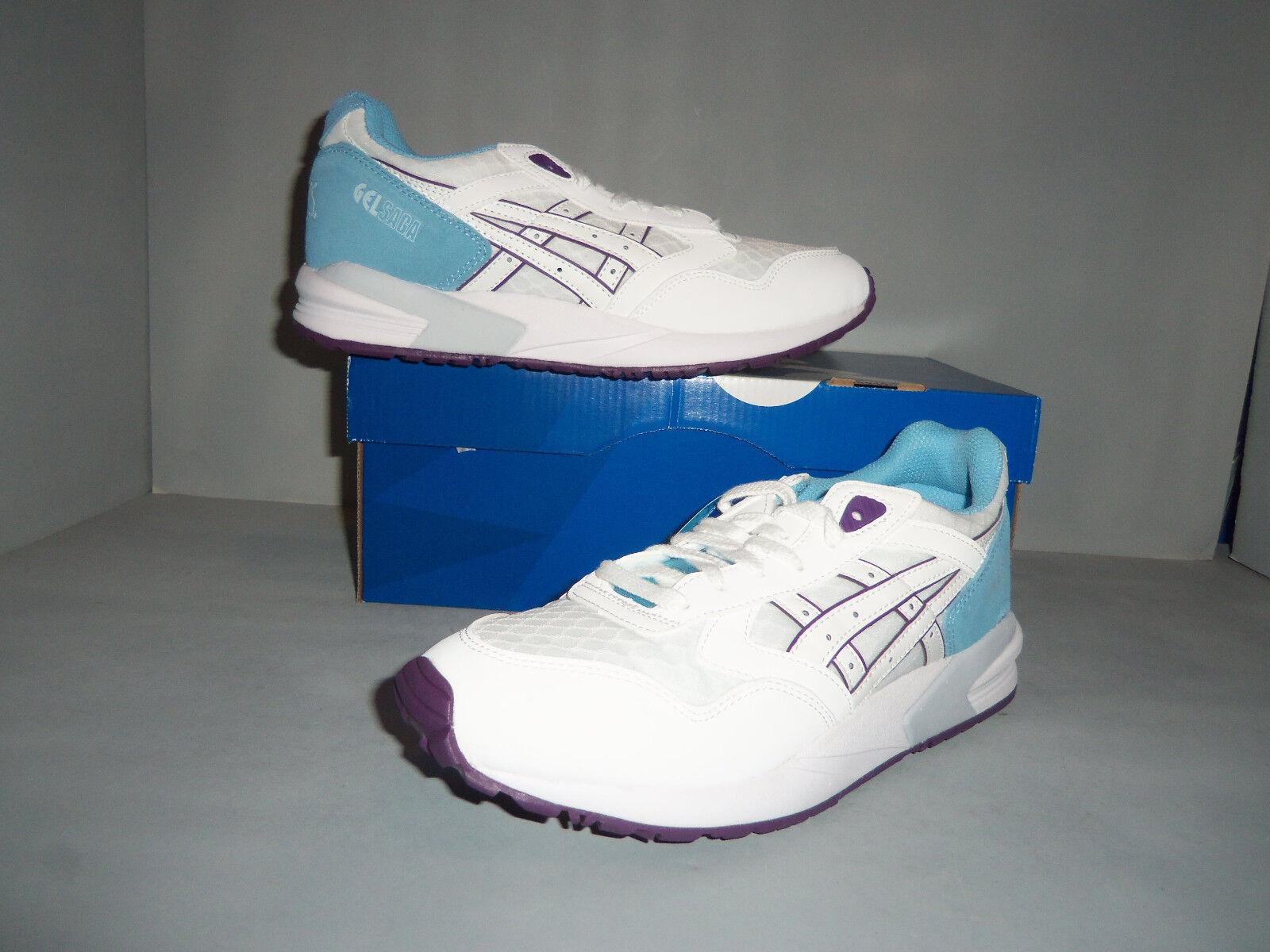Womens ASICS Tiger Gel-Saga White Sizes New NIB Leather Suede Mesh H5P8L 0101