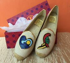 SALE!! TORY BURCH PARROT MISMATCHED ESPADRILLE S6, 7, 8 and 9
