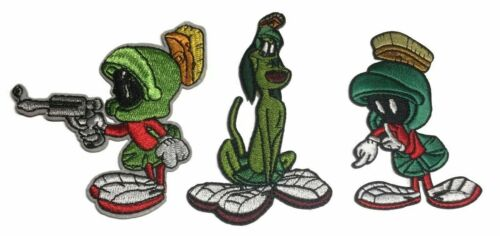 Looney Tunes Marvin Martian and K-9 Embroidered Iron on Patch Set of 3