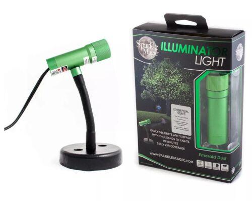 Green Emerald Dust Sparkle Magic 4.0 Series DC Laser Illuminator Light
