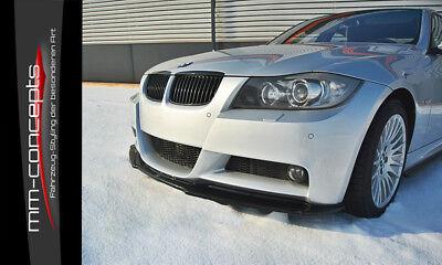 CUP Spoilerlippe SCHWARZ für 3er BMW E90 E91 M-Paket M3 Frontspoiler Schwert