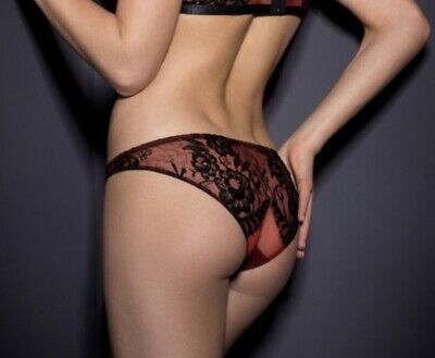 agent provocateur Stephanee Thong Navy// Black Size 2// Uk 8 RRP £85.00