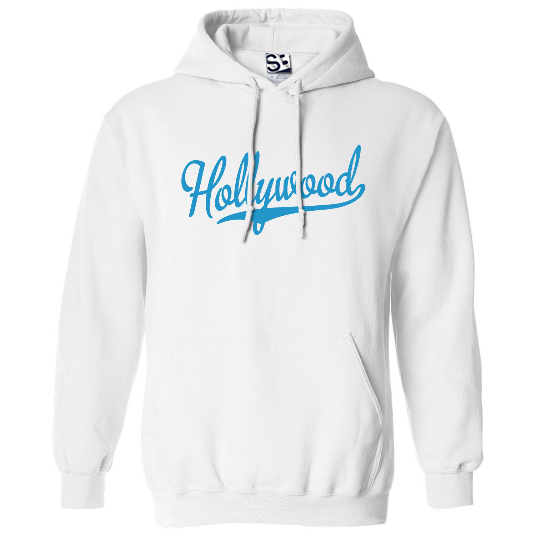 Hollywood Script & Tail HOODIE - Hooded School Sports Team Sweatshirt All Farbes