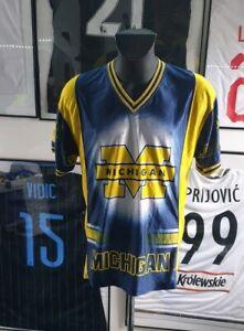 Maillot-jersey-basketball-Michigan-webber-Howard-rose-fab-5-vintage-ncaa-L