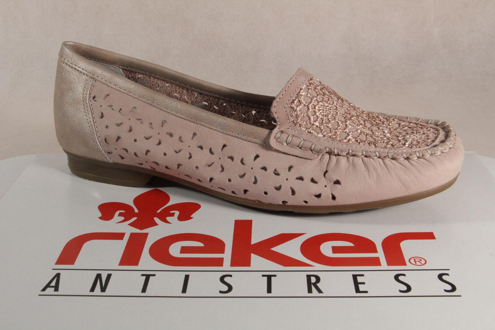 Rieker 40087 Slipper Sneakers Halbschuhe Sportschuhe Ballerina rose NEU