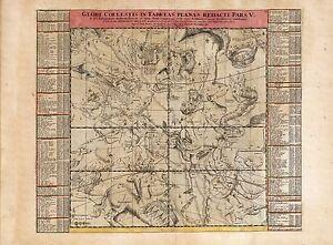 Old-Vintage-Decorative-Stars-map-Hercules-Scorpius-Libra-Doppelmayr-ca-1742