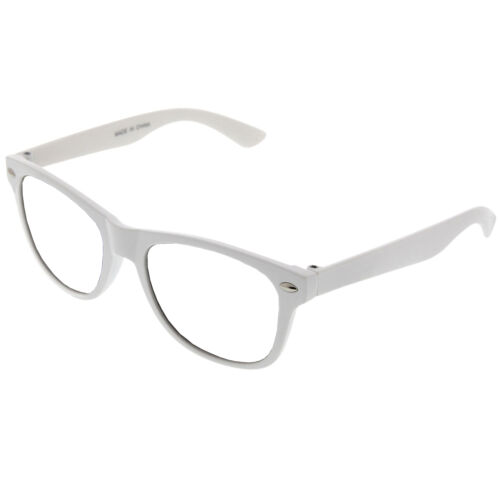 Small KIDS SIZE Retro Color Frame Clear Lens Glasses NERD Costume Fun Boys Girls