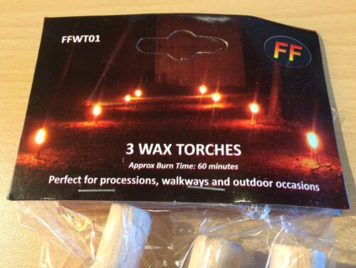 Pack of 75 Hand Held Wax Candles for Processions or Gardens