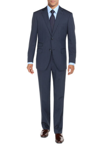 DTI BB Signature Mens Suit Two Button Ticket Pocket Jacket 2 Piece Modern Fit