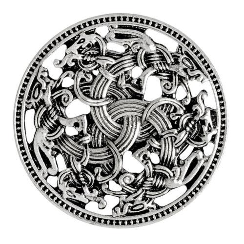 Nordische mittelalterliche Viking Shield Symbol Brosche Hohl Design Schal