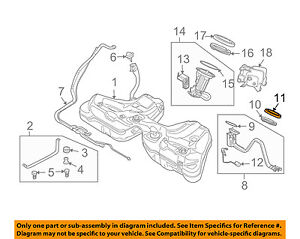 details about bmw oem 00 06 x5 4 4l v8 fuel system fuel pump lock ring 16116762417 Johnson Evinrude Fuel Pump Diagram