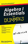 Algebra I Essentials for Dummies by Mary Jane Sterling (Paperback, 2010)