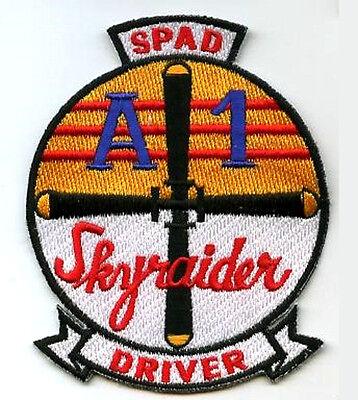 VIETNAM ERA IRON-ON SSI: USN GROUND SUPPORT DOUGLAS A-1 SKYRAIDER SPAD