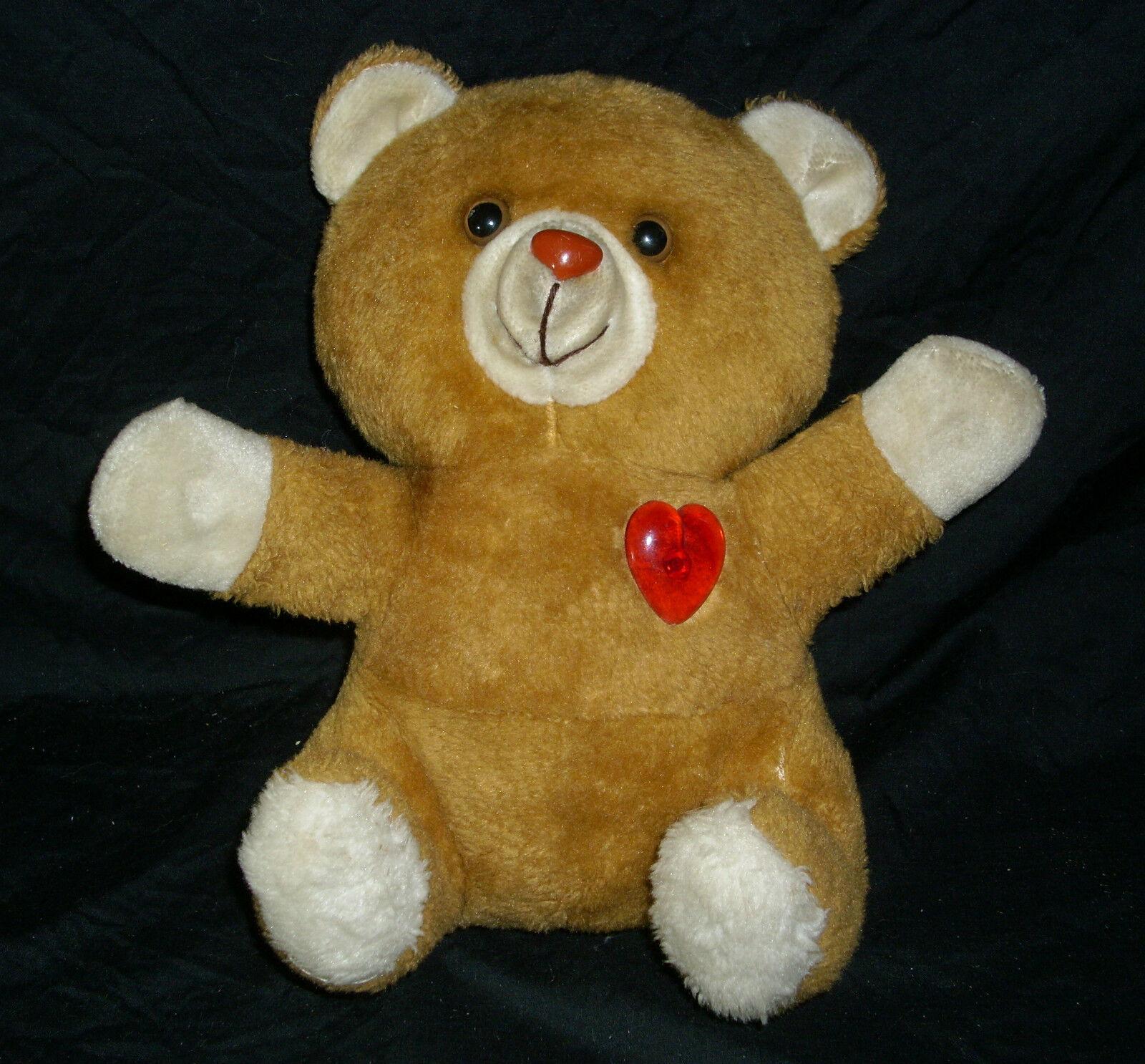 VINTAGE LULLABY STUFFED ANIMAL PLUSH BROWN TEDDY BEAR ELECTRONIC MUSICAL SONGS