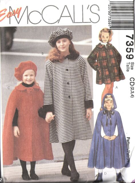 VOGUE SEWING PATTERN WINTER CLOTHES SIZE 2~5//6~8 MAKE GIRLS FITTED COAT~JACKET