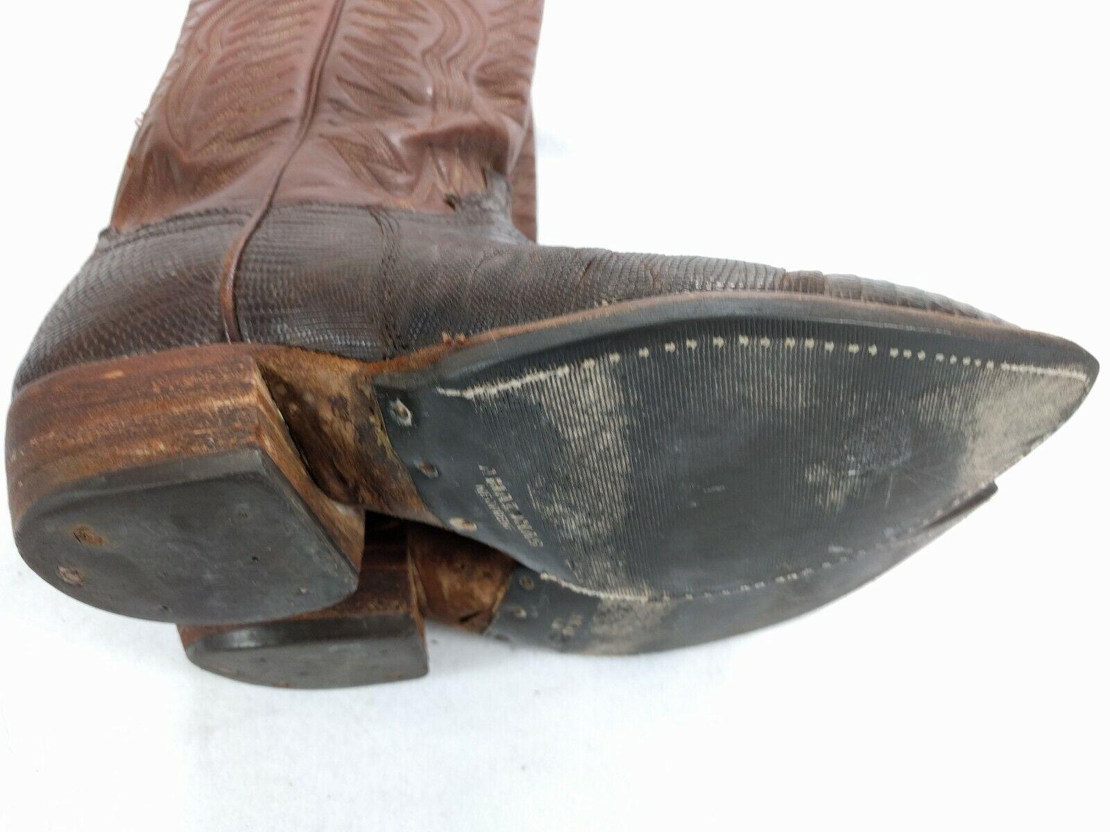 DAN POST 6834 lizard skin cowboy western western western BROWN BOOTS  9 D 093dfb