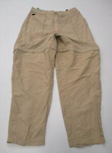 THE-NORTH-FACE-Women-039-s-Size-L-High-Waist-Khaki-Convertible-Leg-Utility-Pants