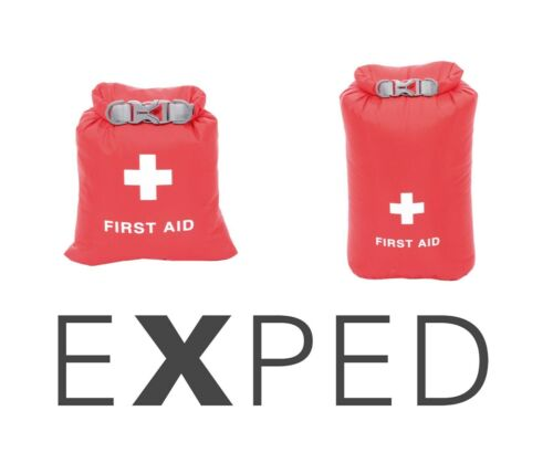 Exped Waterproof Fold Top Red First Aid Drybag Available in Two Sizes