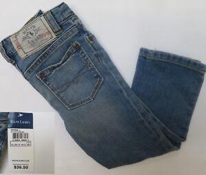 Girls-jeans-denim-DESIGNER-age-2-3-4-5-6-7-years-light-wash-RRP-39-50