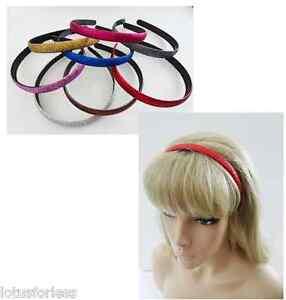 Classic Padded Velvet Flock Hair band headband alice band 2.5 cm School Colours