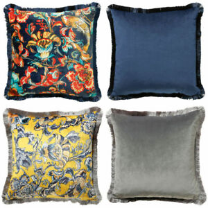 Scatter-Box-Koi-Fringed-Velvet-Feather-Filled-Cushion-45-x-45-Cm