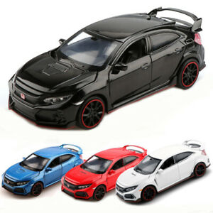 1-32-Scale-Honda-Civic-Type-R-Model-Car-Diecast-Vehicle-Gift-Toy-Kids-Pull-Back