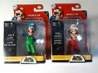 "NEW World of Nintendo Super Mario Bros Ice Luigi & Fire Mario 2.5"" Action Figure"