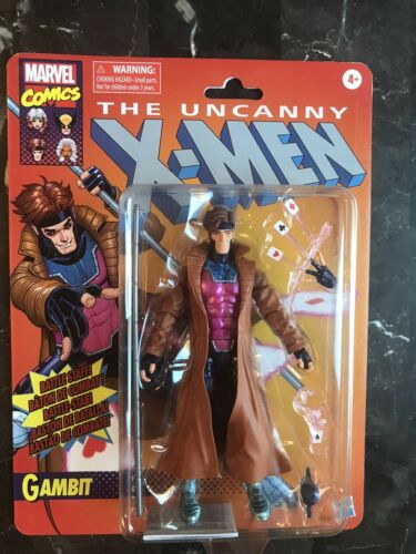 The Uncanny x-men Retro gambit action figure Marvel Legends Retro Gambit.