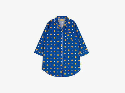 KAKAO FRIENDS RYAN Sleepwear One Piece Pajama Navy Women Pajamas FREE Tracking