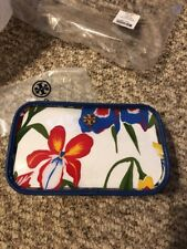 ebd232f4f977 item 5 Tory Burch Floral PVC Cosmetic Case Painted Iris White Multi Color  Bag New -Tory Burch Floral PVC Cosmetic Case Painted Iris White Multi Color  Bag ...