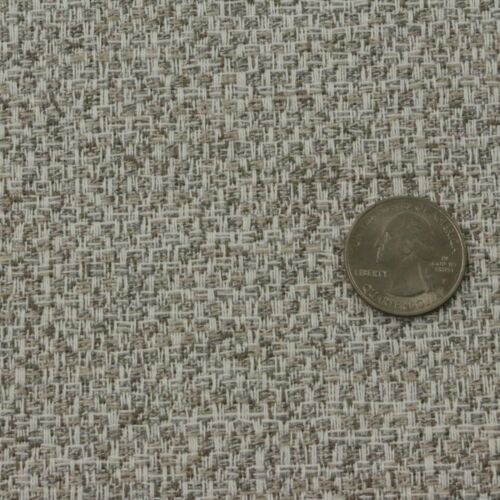 """SUNBRELLA CROSSHATCH VAPOR TAUPE WHITE WOVEN INDOOR OUTDOOR FABRIC BY YARD 54/""""W"""